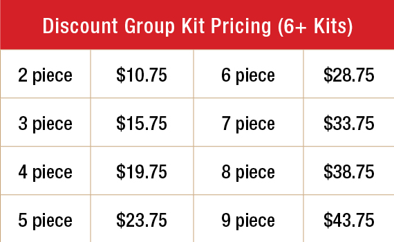Discount Group Kit Pricing (6+ Kits)