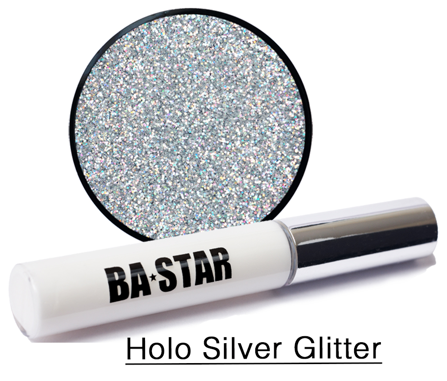 Holo Silver Glitter Makeup & Glue Kit