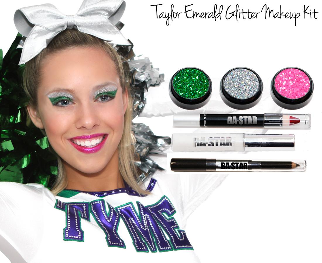 Taylor kitg taylor emeral glitter cheer makeup kit baditri Image collections